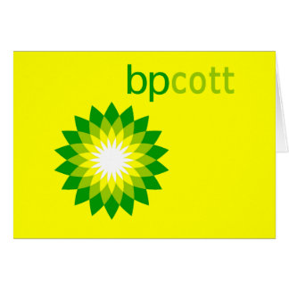 El boicoteo BP engrasa las camisetas, las bolsas Tarjeta De Felicitación