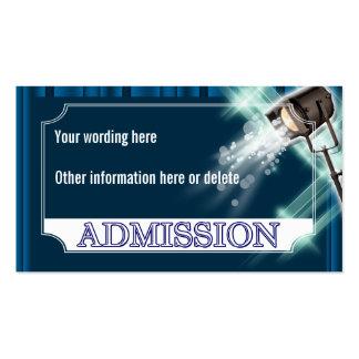 El boleto de la admisión del boda de Hollywood PER Plantillas De Tarjeta De Negocio