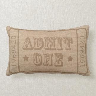 El boleto de teatro caprichoso del circo admite almohadas