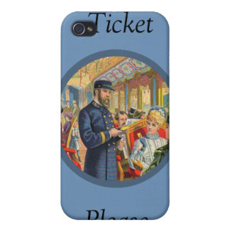 El boleto entrena por favor a la caja de IPhone 4 iPhone 4/4S Funda