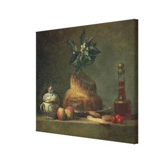 El bollo de leche o el postre, 1763 (aceite en lon impresiones en lienzo estiradas