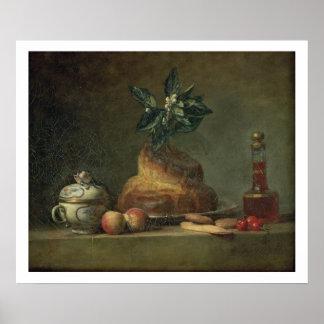 El bollo de leche o el postre, 1763 (aceite en lon impresiones