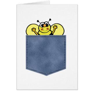 El bolsillo de Jean manosea la abeja Tarjeta De Felicitación