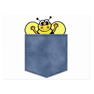 El bolsillo de Jean manosea la abeja Tarjeta Postal