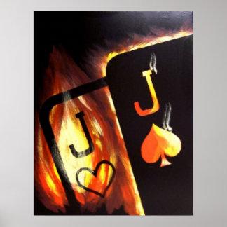 El bolsillo llameante levanta el poster del póker