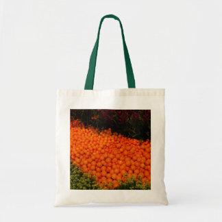 El bolso anaranjado del jardín bolsa tela barata