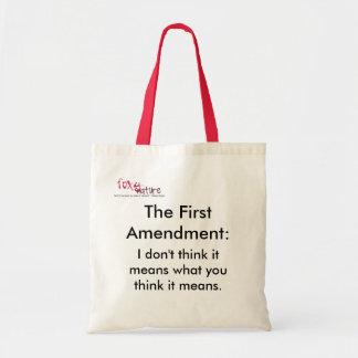 El bolso astuto de la Primera Enmienda