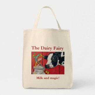 El bolso de compras de hadas de la lechería bolsa de mano