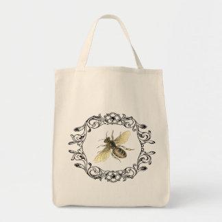El bolso de la abeja bolsa tela para la compra