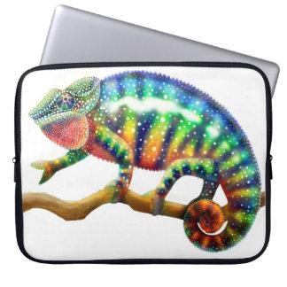 El bolso de la electrónica del camaleón de la funda ordendadores
