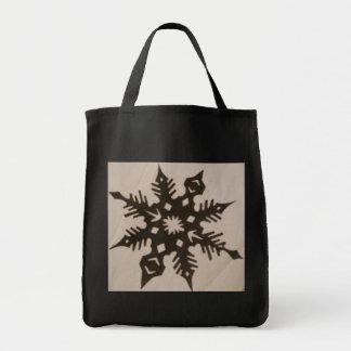 el bolso de la escama de la nieve bolsa lienzo