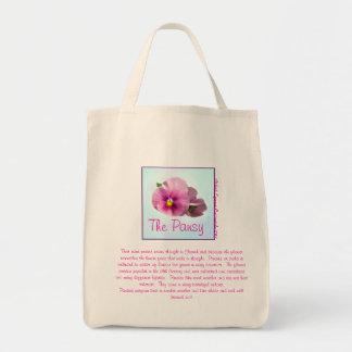 El bolso de la flor del pensamiento