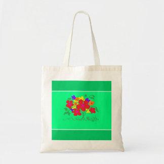 el bolso de la flor respetuoso del medio ambiente  bolsa
