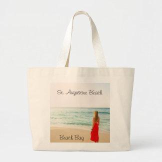 El bolso de la playa de la playa bolsa lienzo