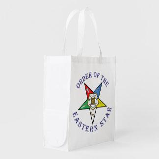 El bolso de ultramarinos de la estrella bolsas reutilizables