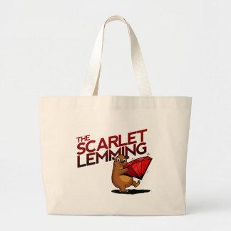 El bolso del leming del escarlata (con título) bolsa tela grande