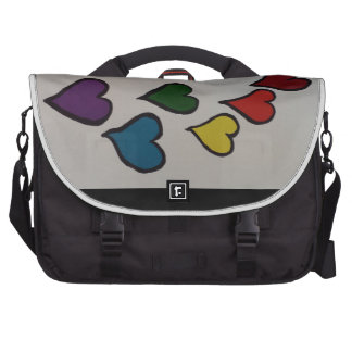 El bolso del ordenador portátil de los corazones bolsas para portátil