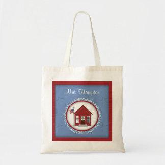 El bolso del profesor personalizado casa de la esc bolsa tela barata