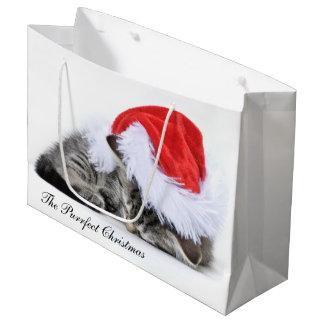 El bolso del regalo del navidad de Purrfect Bolsa De Regalo Grande