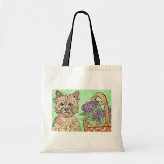 El bolso del terrier de mojón florece a la momia d bolsas de mano
