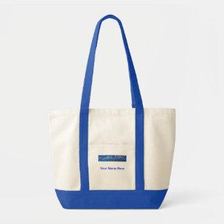 El bolso del tono del logotipo 2 de la política de bolsa lienzo