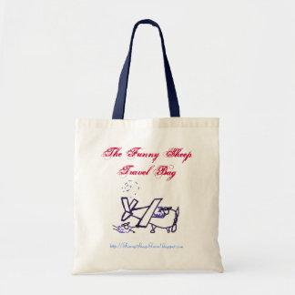 El bolso divertido del viaje de las ovejas bolsa tela barata