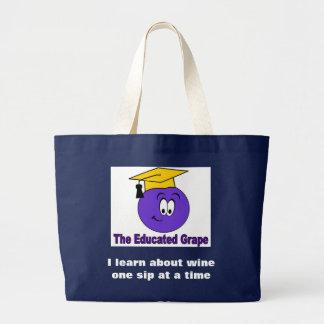 El bolso educado de la playa de la uva bolsa