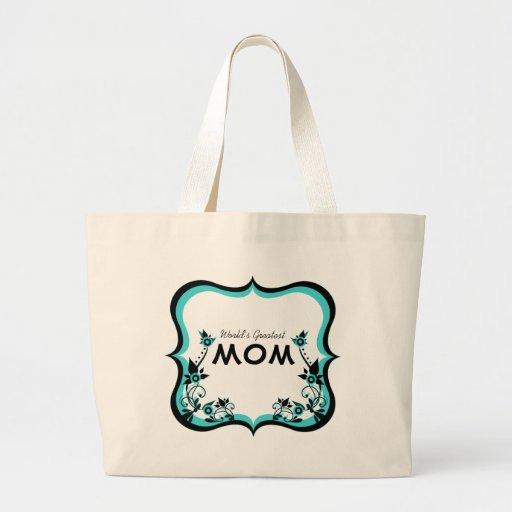 El bolso más grande de la mamá del mundo floral de bolsas