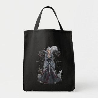 El bolso oscuro del ángel de la sacerdotisa bolsa tela para la compra