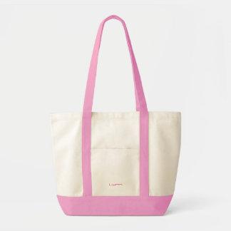 El bolso rosado y blanco de Lynn de la lona