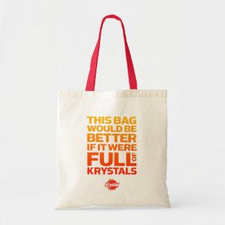 El bolso sería mejor si por completo de Krystals Bolsa Lienzo