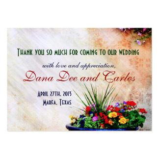 El bolso Sudoeste-inspirado del regalo de boda le  Tarjetas De Visita Grandes