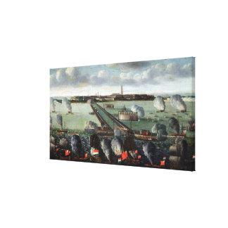 El bombardeo de Dunkerque Impresiones En Lienzo Estiradas