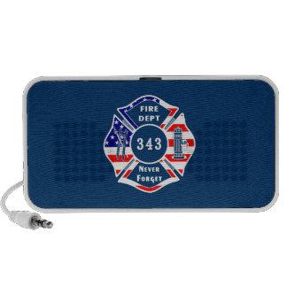 El bombero 9/11 nunca olvida 343 PC altavoces