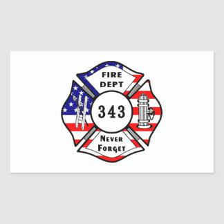 El bombero 9 11 nunca olvida 343 etiqueta