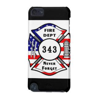 El bombero 9/11 nunca olvida 343 funda para iPod touch 5G