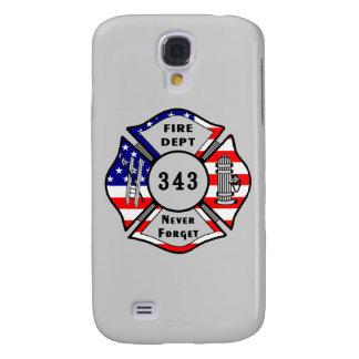 El bombero 9/11 nunca olvida 343 funda para galaxy s4