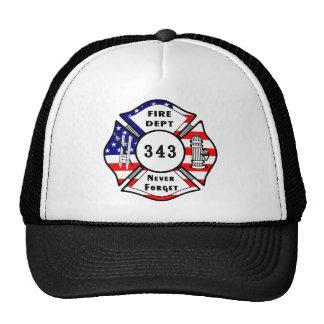 El bombero 9/11 nunca olvida 343 gorra