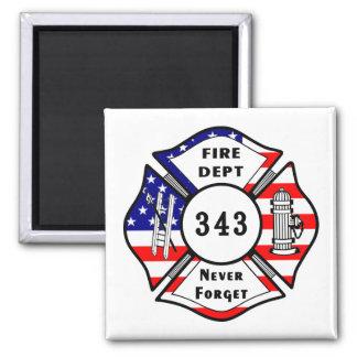 El bombero 9 11 nunca olvida 343 iman de frigorífico