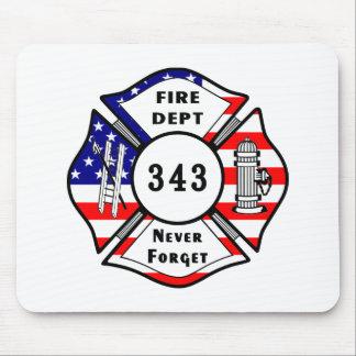 El bombero 9 11 nunca olvida 343 tapetes de raton