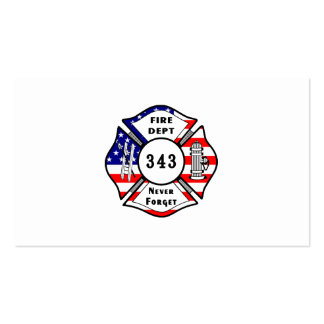 El bombero 9/11 nunca olvida 343 tarjetas de visita