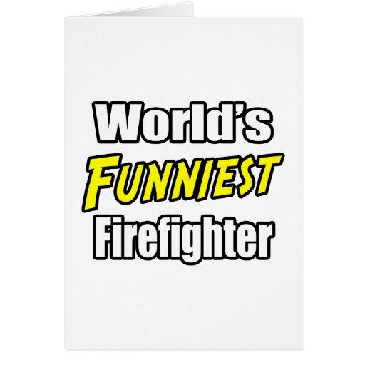 El bombero más divertido del mundo tarjetón