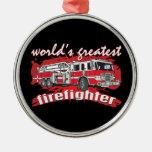 El bombero más grande del mundo ornaments para arbol de navidad