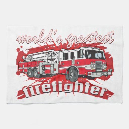 El bombero más grande del mundo toalla de cocina