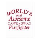 El bombero más impresionante del mundo tarjetas postales