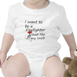 El bombero tiene gusto de mi tío traje de bebé