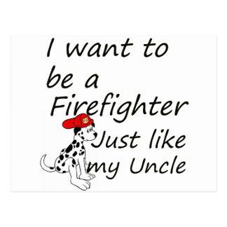 El bombero tiene gusto de mi tío postal