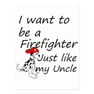 El bombero tiene gusto de mi tío postales