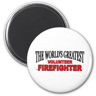 El bombero voluntario más grande del mundo imán redondo 5 cm