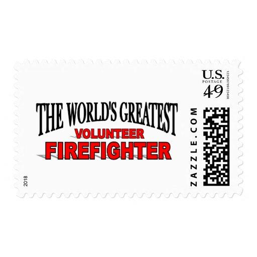 El bombero voluntario más grande del mundo sello